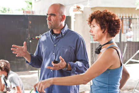 Luis Tosar ja ohjaaja Iciar Bollain