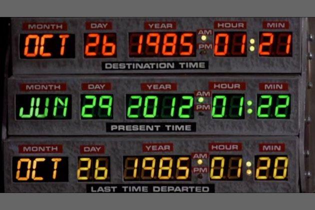 Kuva elokuvasta Paluu tulevaisuuteen II.