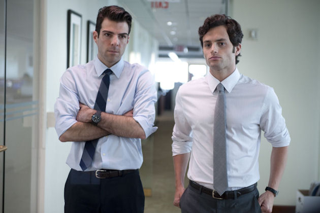 Zachary Quinto ja Penn Badgley