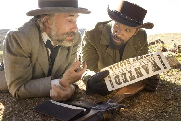 Dr. King Schultz (Christoph Waltz) ja Django (Jamie Foxx)
