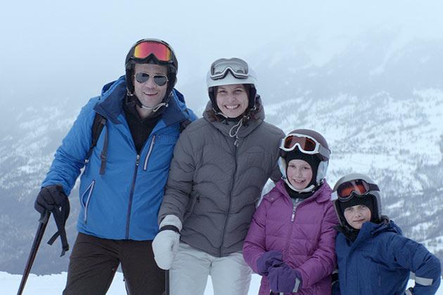 Onnellinen perhe.