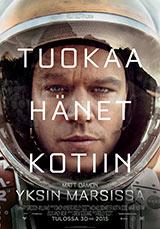 Yksin Marsissa juliste poster