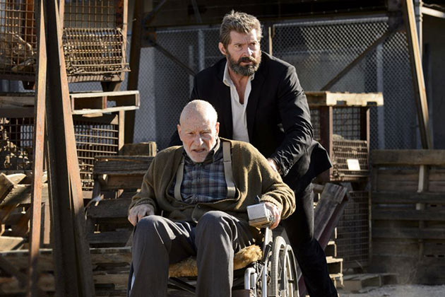 Patrick Stewart ja Hugh Jackman