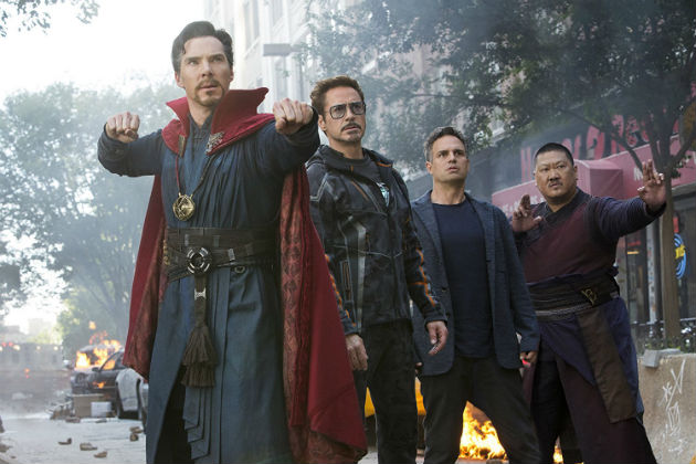 Benedict Cumberbatch, Robert Downey Jr., Mark Ruffalo ja Benedict Wong