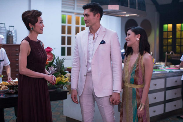 Michelle Yeoh, Henry Golding ja Constance Wu