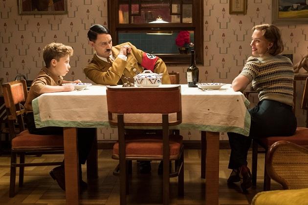 Roman Griffin Davis, Taika Waititi ja Scarlett Johansson