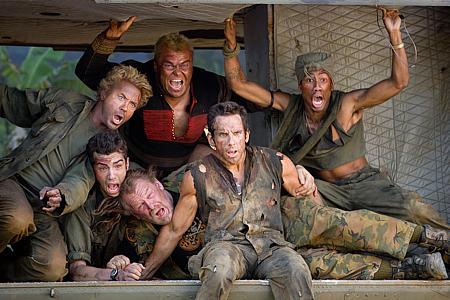 Robert Downey Jr, Jay Baruchel, Jack Black, Nick Nolte, Ben Stiller ja Brandon T. Jackson