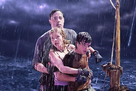 Brendan Fraser, Anita Briem ja Josh Hutcherson.