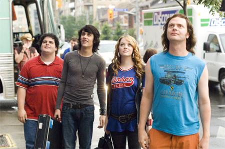 Josh Gad, Teddy Geiger, Emma Stone ja Rainn Wilson