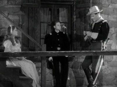 Shirley Temple, John Agar, John Wayne