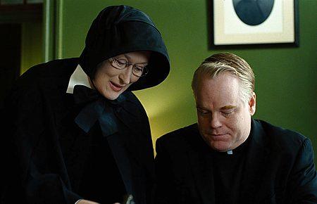 Meryl Streep ja Philip Seymour Hoffman.