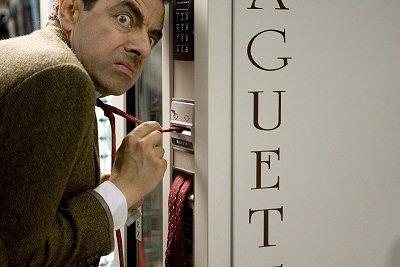 Mr. Bean vaihtamassa rahaa