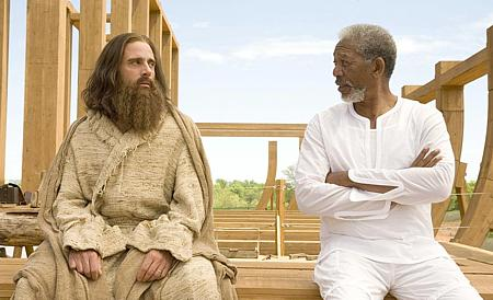 Steve Carell ja Morgan Freeman