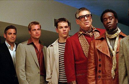 George Clooney, Brad Pitt, Matt Damon, Elliott Gould ja Don Cheadle