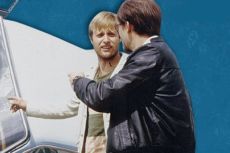 Keskiön poliisit/yksityisetsivät. Näyttelijöinä Timo Nissi ja Erkki Teittinen.