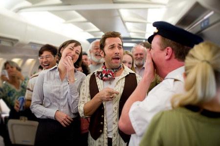 Hupaa lentokoneessa