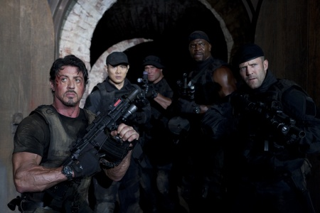 Stallone, Jet Li, Randy Couture, Terry Crews ja Jason Statham
