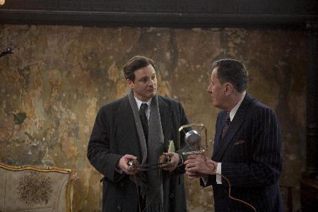Geoffrey Rush ja Colin Firth