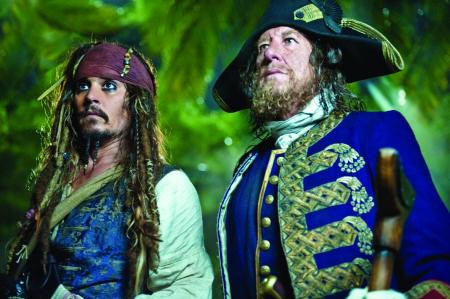 Johnny Depp ja Geoffrey Rush
