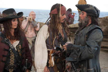 Penelope Cruz, Johnny Depp ja Ian McShane