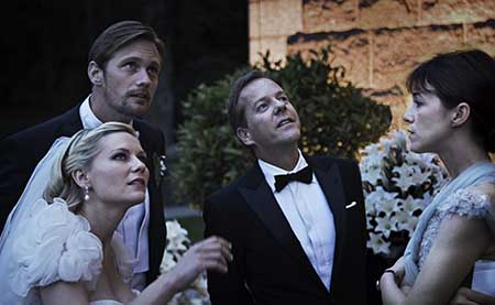 Kirsten Dunst, Alexander Skarsgård, Kiefer Sutherland ja Charlotte Gainsbourg