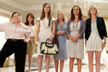 Melissa McCarthy, Ellie Kemper, Rose Byrne, Wendi McLendon-Covey, Maya Rudolph ja Kristen Wiig