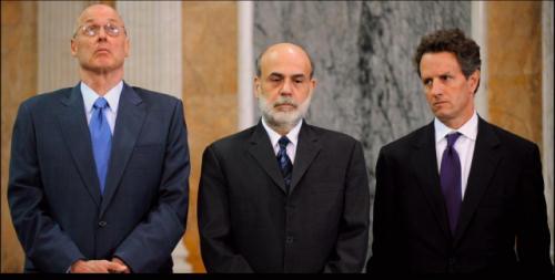 Paulson, Bernanke ja Geithner