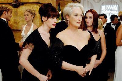 Anne Hathaway, Meryl Streep ja Emily Blunt
