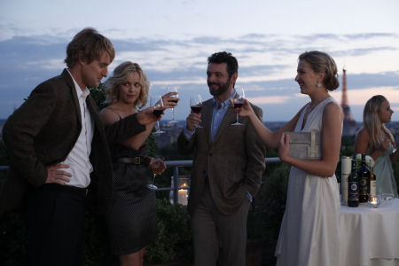 Owen Wilson, Rachel McAdams, Michael Sheen ja Nina Arianda